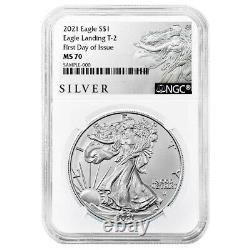 Presale 2021 $1 Type 2 American Silver Eagle NGC MS70 ALS FDI Label