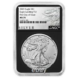 Presale 2021 $1 Type 2 American Silver Eagle NGC MS70 FDI ALS Label Retro Core