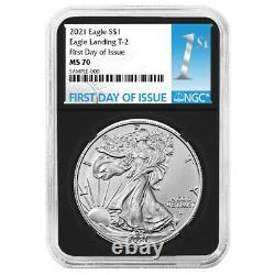 Presale 2021 $1 Type 2 American Silver Eagle NGC MS70 FDI First Label Retro Co