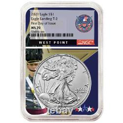 Presale 2021 $1 Type 2 American Silver Eagle NGC MS70 FDI West Point Core