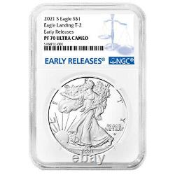 Presale 2021-S Proof $1 Type 2 American Silver Eagle NGC PF70UC ER Blue Label