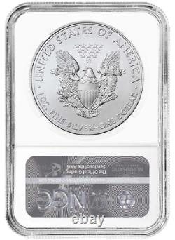 Presale 2021 Silver Eagle NGC MS70 Type 1 Early Releases John Mercanti Signed