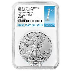 Presale 2021 (W) $1 Type 2 American Silver Eagle NGC MS70 FDI First Label