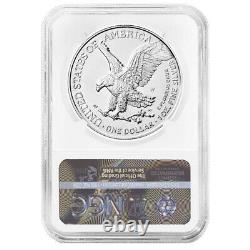 Presale 2021-W Burnished $1 Type 2 American Silver Eagle NGC MS70 ER Blue Labe