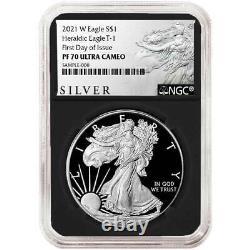 Presale 2021-W Proof $1 American Silver Eagle NGC PF70UC FDI ALS Label Retro C