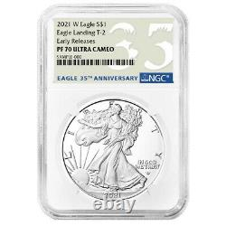 Presale 2021-W Proof $1 Type 2 American Silver Eagle NGC PF70UC ER 35th Annive
