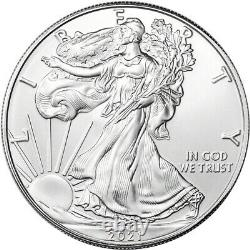 Roll of 20 2021 (S) American Silver Eagle NGC Gem Unc First Day Issue Trolley