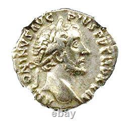 Roman Emperor Antoninus Pius Silver Denarius Coin NGC Certified VF With Story