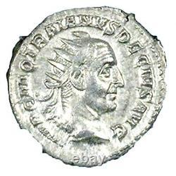 Roman Emperor Trajan Decius Double Denarius Coin NGC Certified AU, With Story