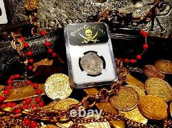 Spain 1616 Dated 4 Reales Ngc 35 Silver Coin Pirate Gold Coins Treasure Cob